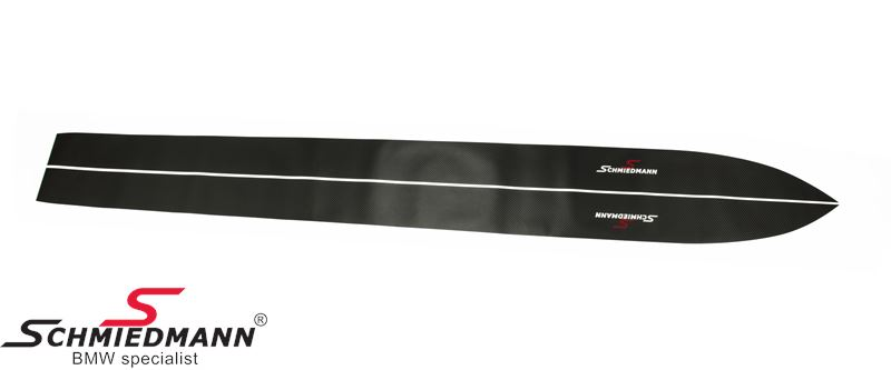 Schmiedmann sideskirt sticker set with logo, nice genuine carbon look, set for both sides