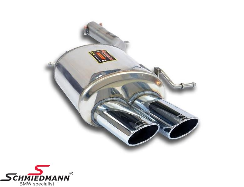 Sport rear silencer stainless steel L.-side Supersprint tailpipes 2X100X75MM oval