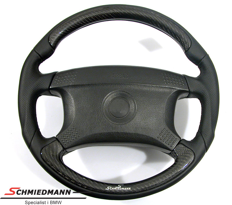 Sportratt Schmiedmann 4 ekrig läder med kolfiber insatser D=385MM
