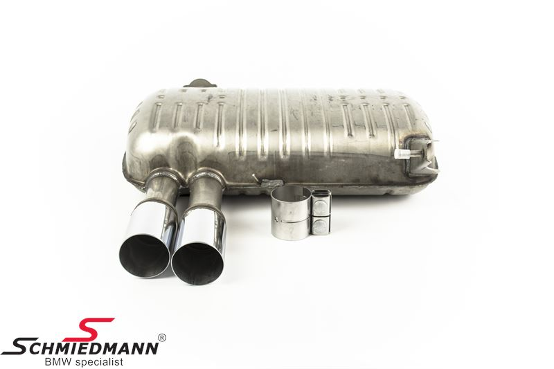 Sport rear silencer stainless steel original BMW Performance