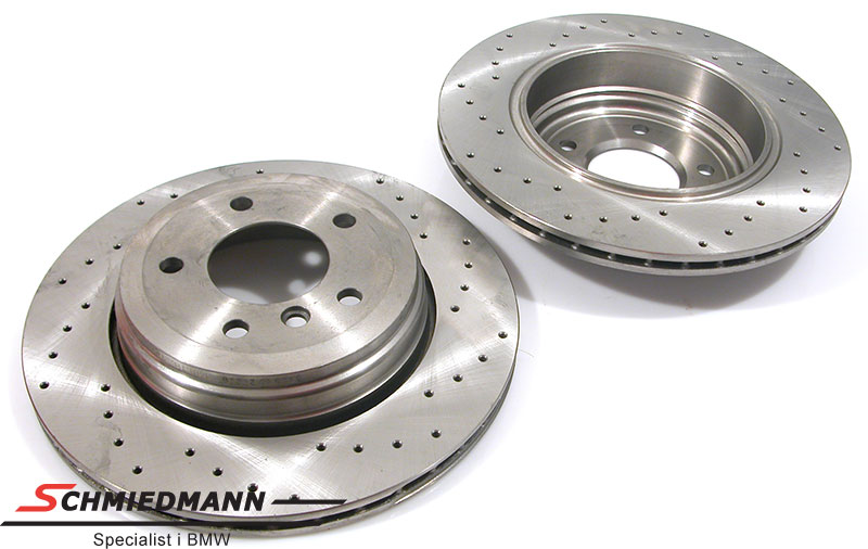 Racing brake discs rear set 320X20MM ventilated with holes Zimmermann
