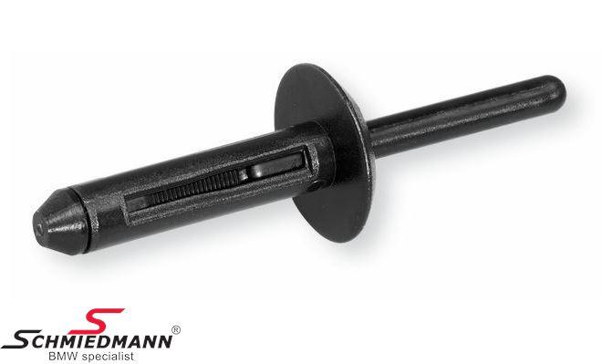 Blind rivet, for rear bumper