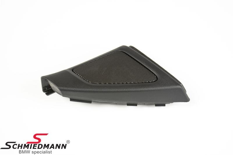 Cover, mirror baseplate with speaker grill, R.-side