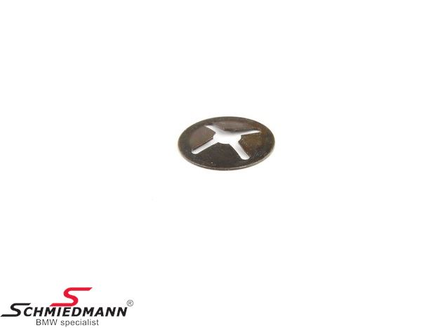 Spring nut for instance for door trim panels