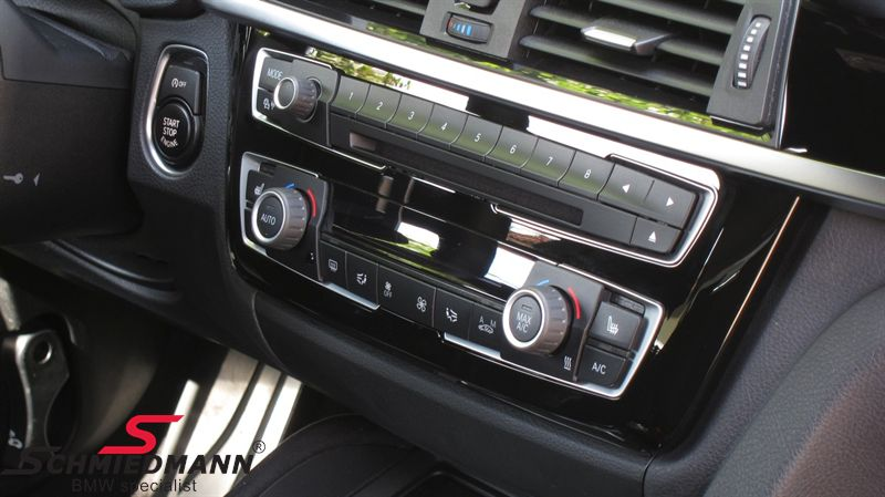 Blende Klimabedieneinheit  Hochglanz schwarz, beleuchtet - original BMW