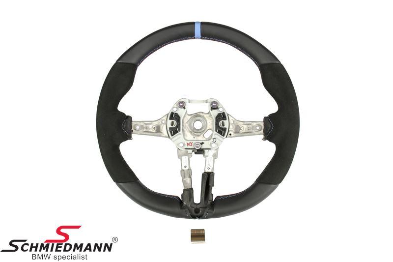 Sport steering wheel leather/alcantara - original BMW ///M-performance (Airbag not included)