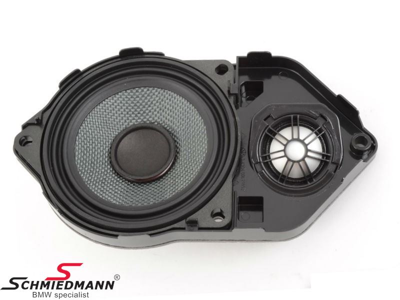 Speaker mount for instrument panel, including midrange- and high tone speaker, Top-Hifi original BMW