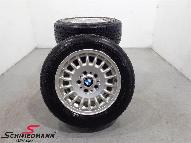 "15"" org. BMW Aluwheels with tyres ""Sportspeichen Styl 13"""