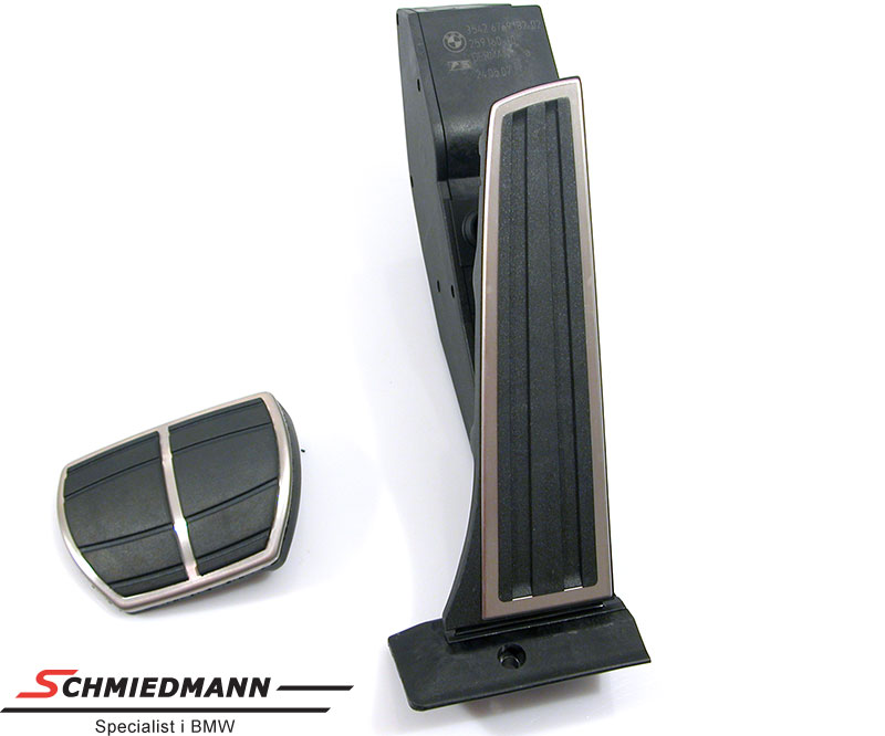 Pedal set sport rostfritt stål original BMW
