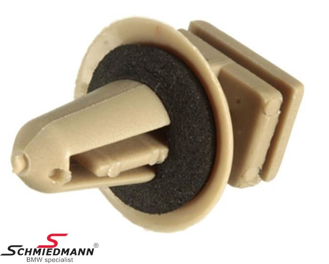 Clamps with washer beige, for instance for door sills and tailgate panels
