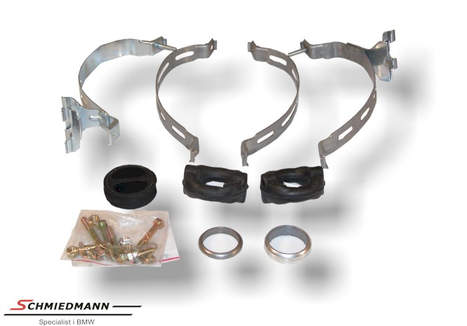 Mounting parts set exhaust