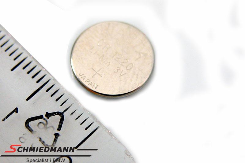 Mikro-batteri (CR1220) til nøgle med infarød fjernbetjening
