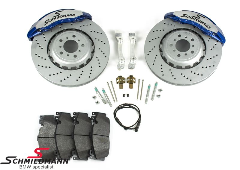 Schmiedmann -S-Tech.- big brake kit Front 400X36MM 6 Kolben Blau-Metallic Bremssattel