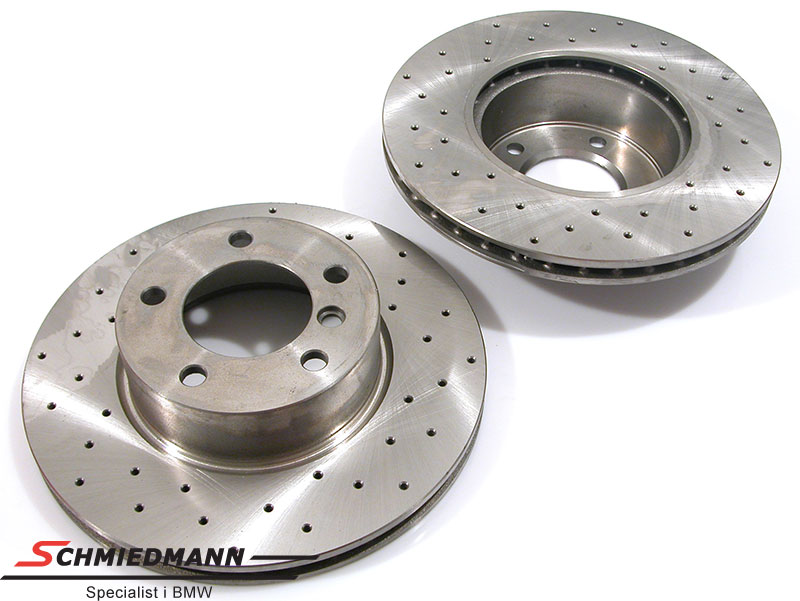 Racing brake discs front set 300X24MM ventilated with holes Zimmermann