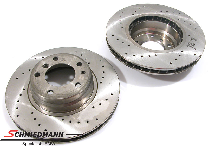Racing brake discs front set 316x28MM ventilated with holes Zimmermann