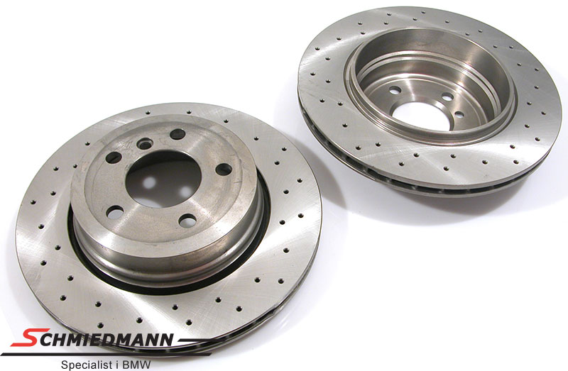 Racing brake discs rear set 320X22MM ventilated with holes Zimmermann