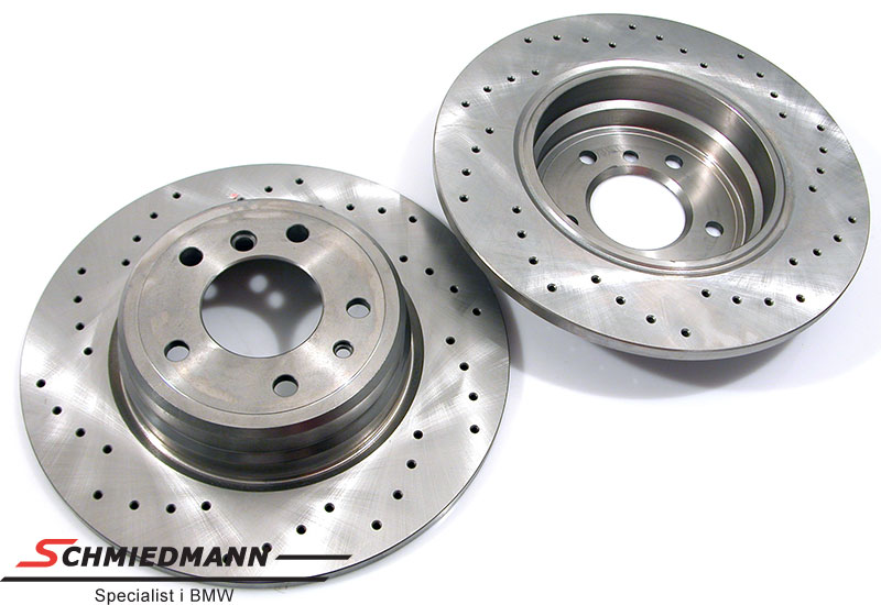 Racing brake discs rear set 324X12MM solid with holes Zimmermann