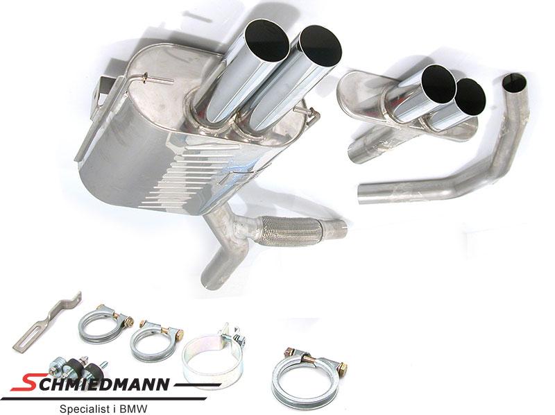 4 rør Eisenmann sportsudstødning i M5 look 4XØ76MM
