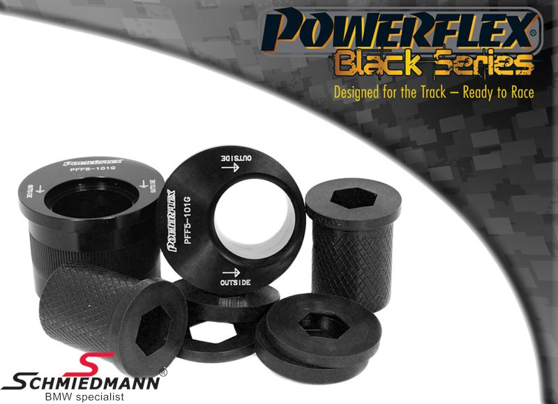 Powerflex racing -Black Series- front Lower wishbone rear bush set, caster adjusted +2°