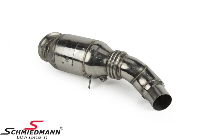 Wagner Tuning front catalyst replacement (downpipe) for race use only (please note, the kit will turn the yellow engine lamp on which wont have any influence on performance, to turn it of reprogramming is needed)