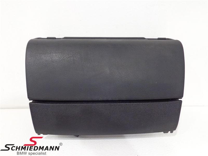 Glove box black complete