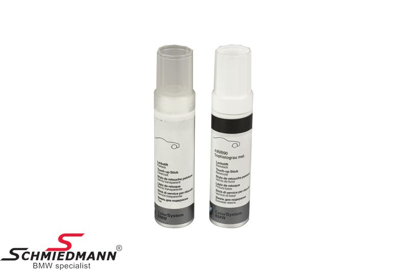 Touch up set (paint/clearpaint)  2x12ML Sophistograu met. A90/B90
