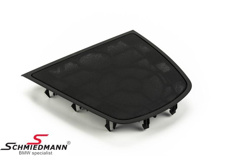 Loudspeaker grille, dashboard center, black