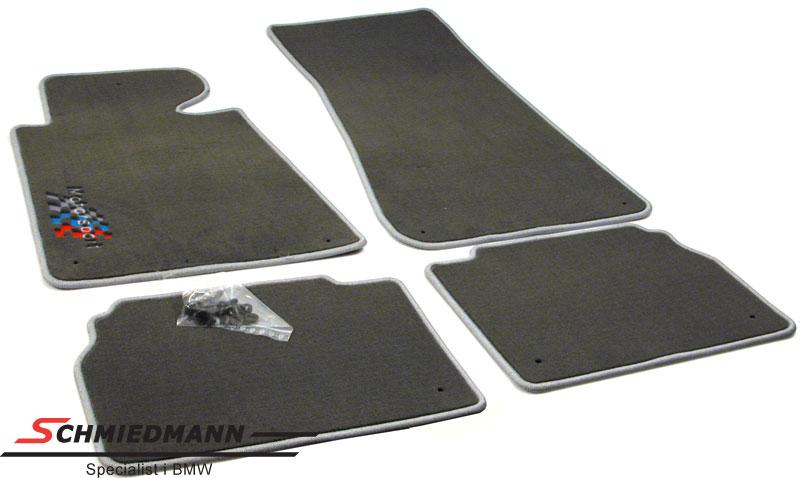 Fussmatten vorne/hinten grey mit -Motorsport- Logo