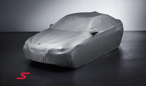 Overtræks-garage til udendørs brug - original BMW, formsyet, sølvfarvet med logo