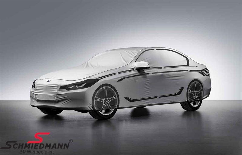 Overtræks-garage til udendørs brug - original BMW, formsyet med 'Future' design-tryk