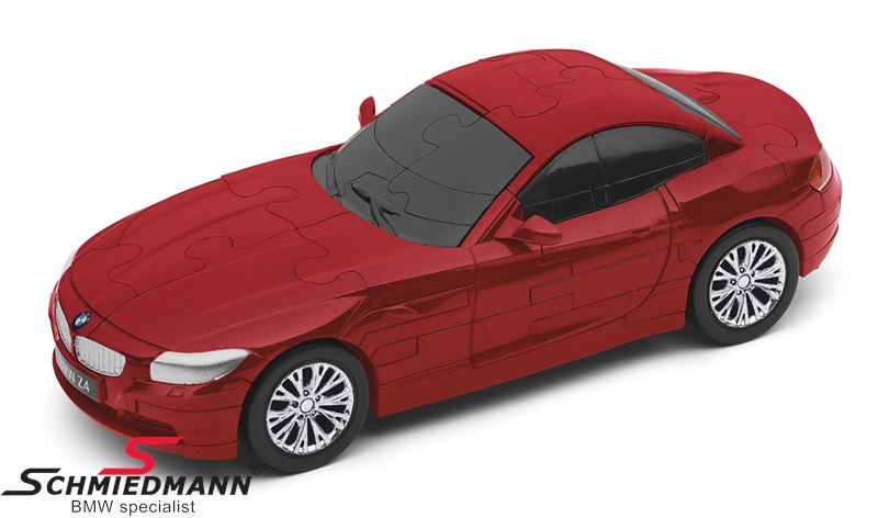 BMW Z4 3D-puzzle, 60 pcs. - lacquered red scale 1:32