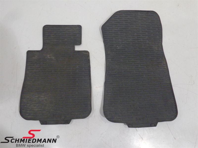Rubber floormat set front black