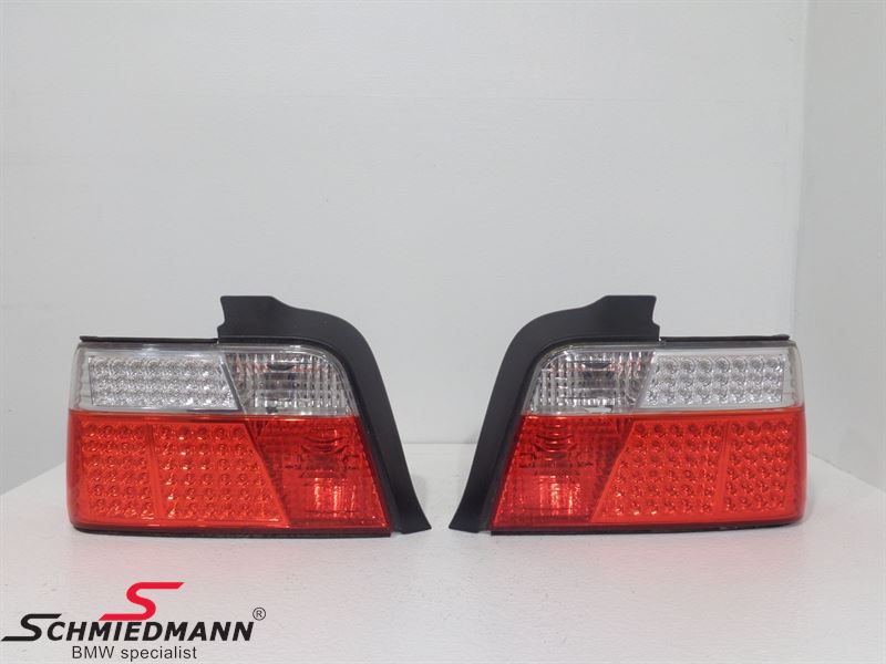 Taillights LED red/white in crystal facelift design