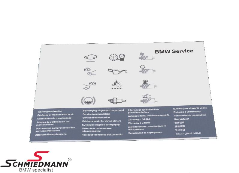 Service book BMW, from model year 2012