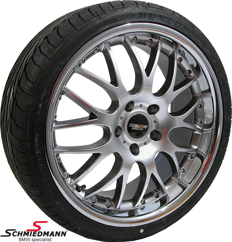 """18"""" Rennsport rims with polished stainless steel lip 8x18 with 235/40/18"""