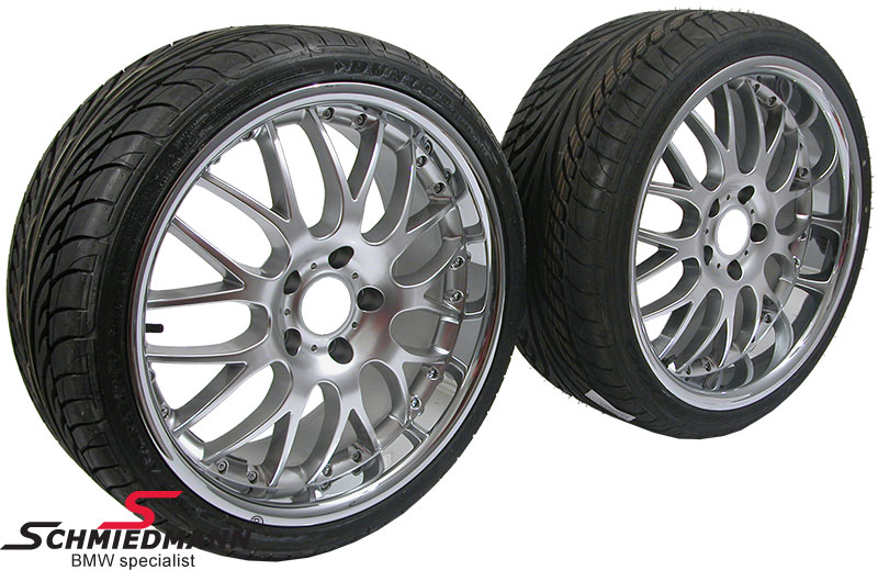 "18"" Rennsport rims with polished stainless steel lip 8+9x18 with 235/40+265/35-18"
