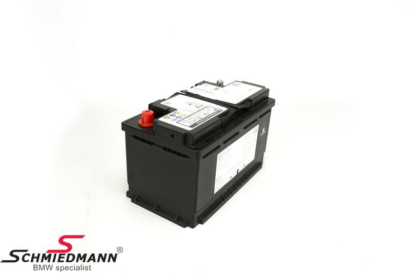 61 21 7 555 719 agm battery original bmw 80ah. Black Bedroom Furniture Sets. Home Design Ideas