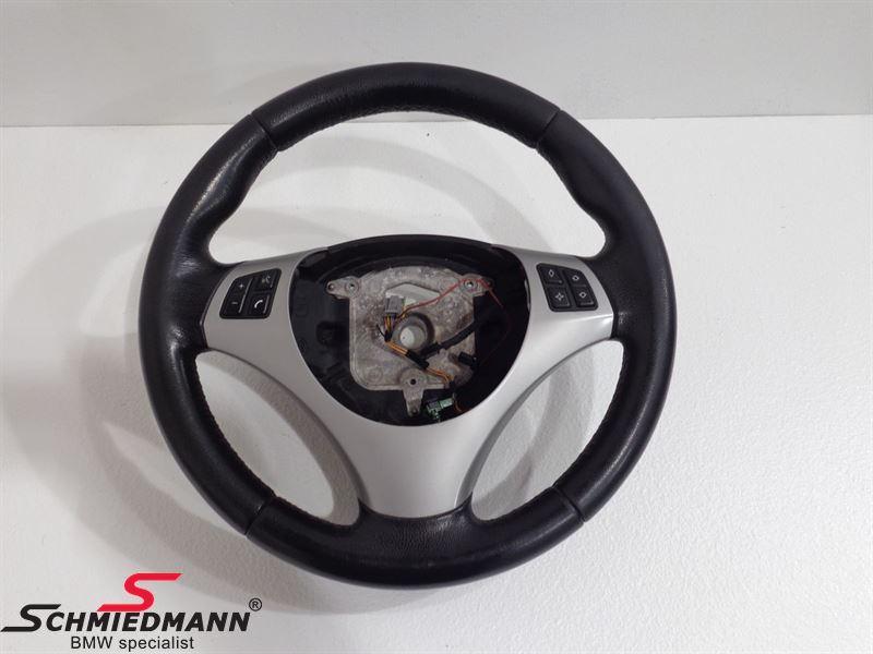 Sport steering wheel leather