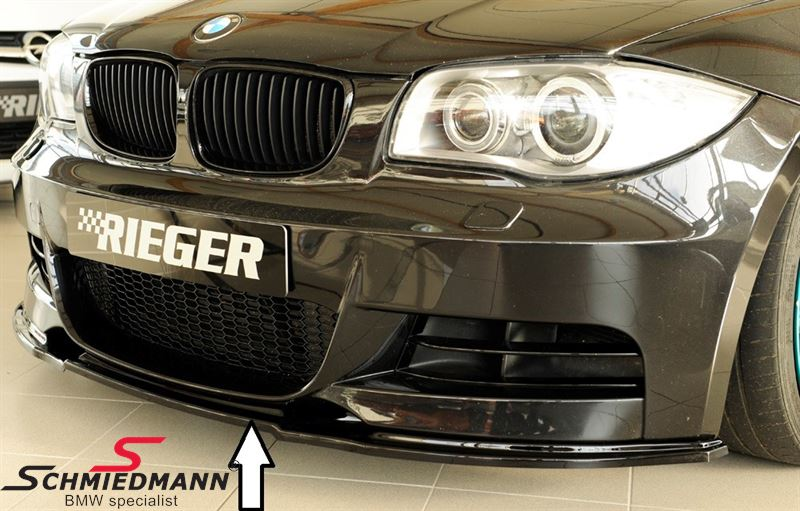 5ea2bc81299 88124 BMW E88 - Rieger frontspoiler lip high gloss black must not be  painted for M