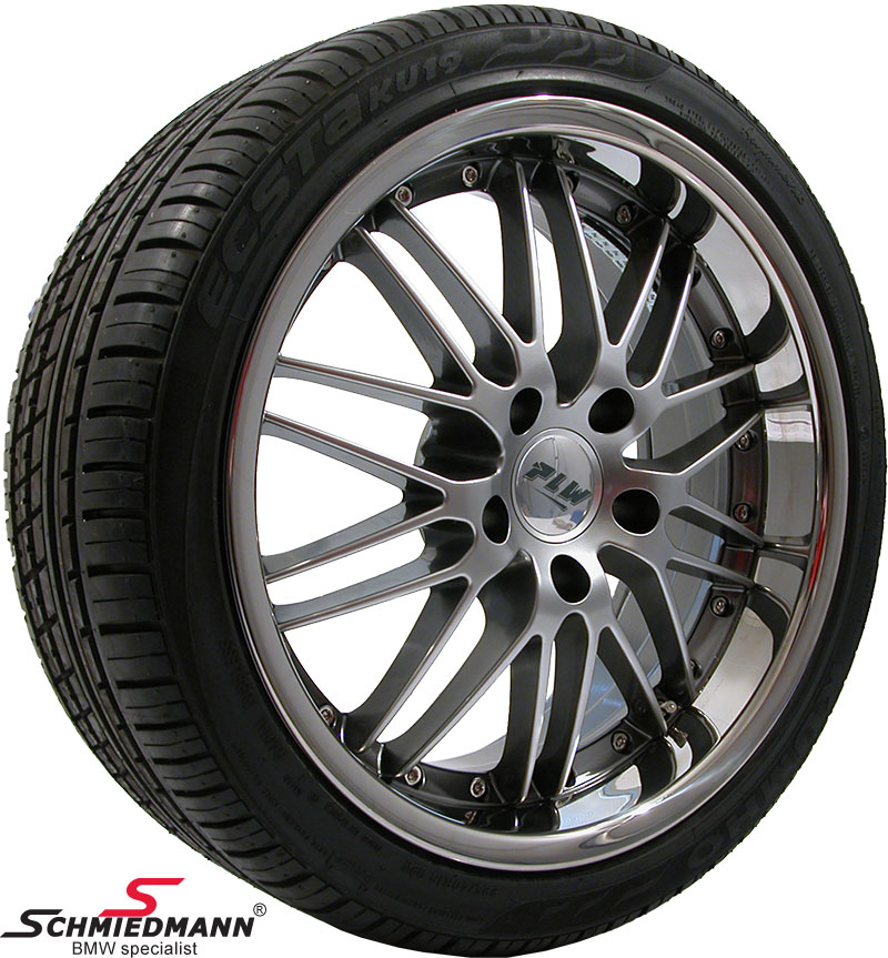 """19"""" Proline PI Evo 8,5X19 rims with 245/35/19 (Stainless steel lip)"""