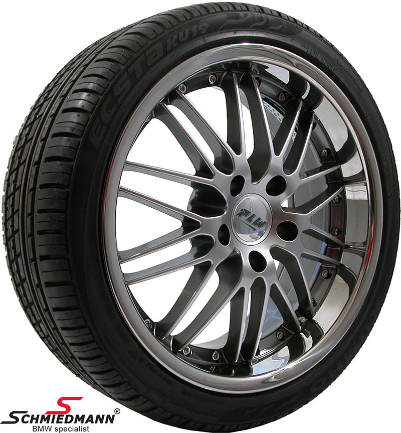 """19"""" Proline PI Evo 8,5X19 rims with 235/35/19 (Stainless steel lip)"""