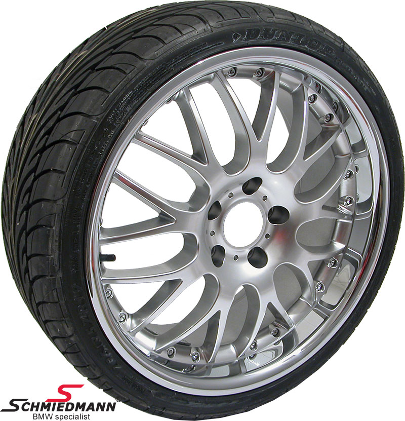 "19"" Rennsport rims with polished stainless steel lip 8,5x19 with 245/40/19"