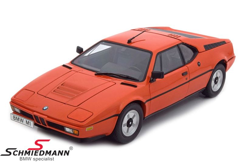 BMW miniature M1 Heritage, orange 1:18