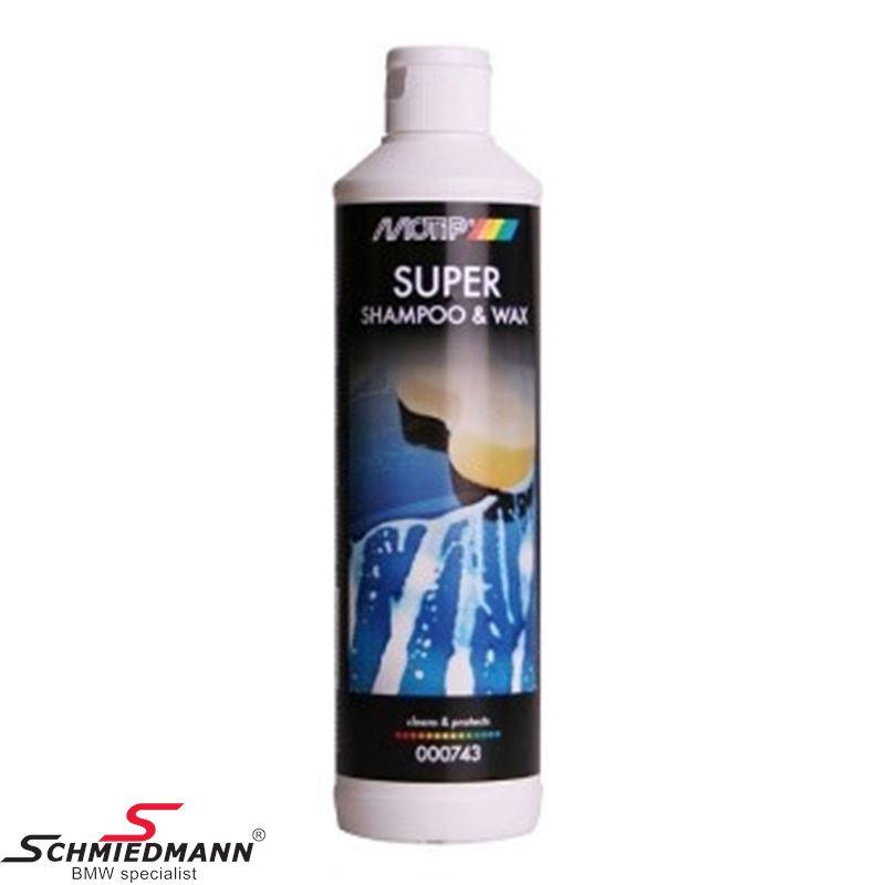 Motip super shampoo & wax 500ML. bottle