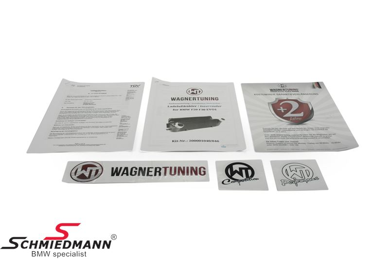 Wagner Tuning Germany Performance-Package for N20 engines, consists of a  highflow downpipe with an 200 CPI racing catalyst + an upgrade intercooler