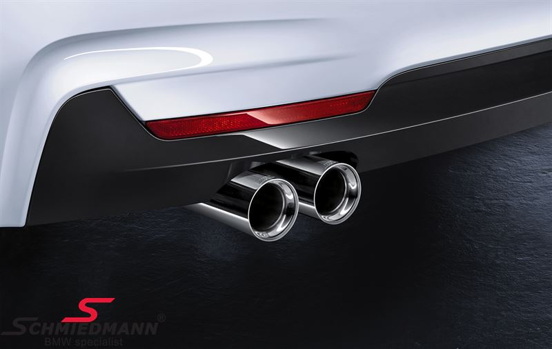 Tailpipe tip chrome for 'Active Sound' Exhaust system original BMW -///M-Performance- (Sold pr. piece)
