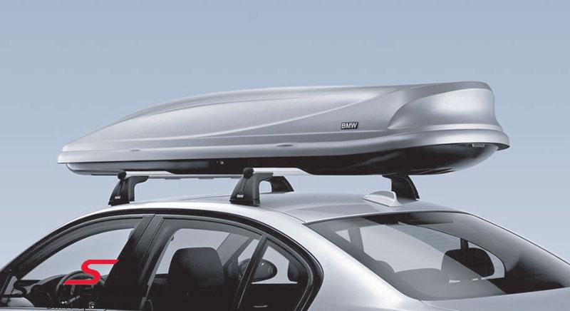 Tak og bagasje-boks 460 liter original BMW låsbar i sølv med BMW emblem