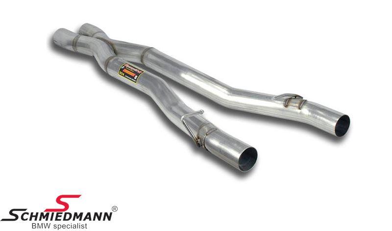 X-rør mellempotte erstatning Supersprint -Lightweight Racing- fra katalysator til bagpotte (Forstærker racing-lyden)