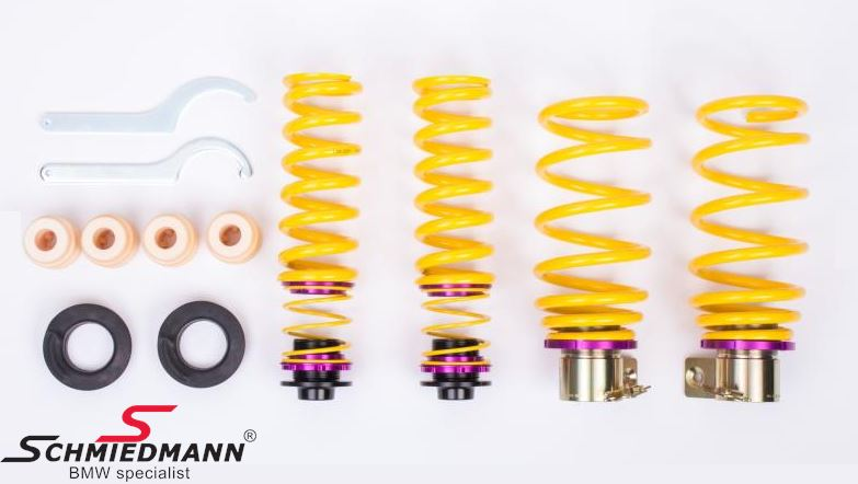 Lowering kit hight adjustable front 5-25MM/rear 10-30MM.<br> Uses the original shock absorbers, but gives adjusting possibilities as coilover kit.