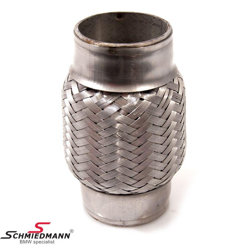 """Flex samlestykke 2,5""""/65MM(indv.) rustfrit stål til påsvejsning L=190MM"""